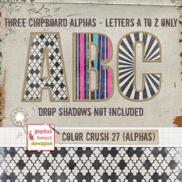 Color Crush 27 {3 Chipboard Alphas}