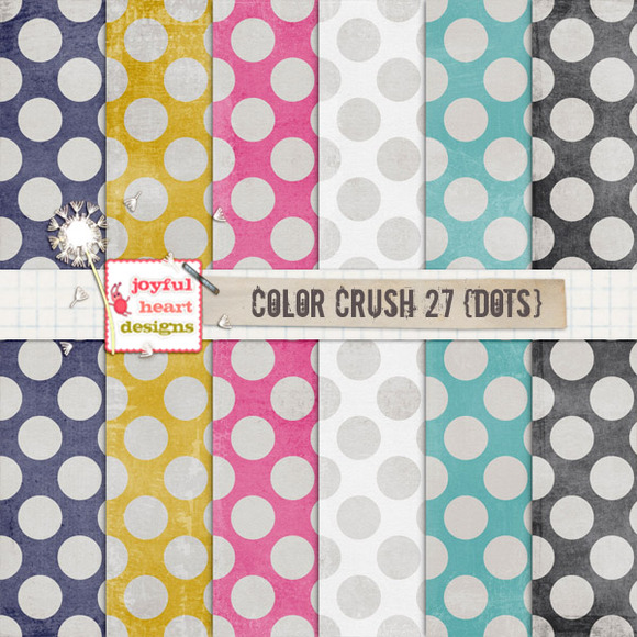 Color Crush 27 {shabby Dots}