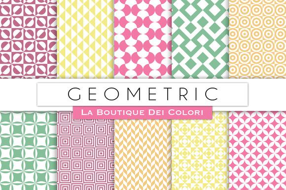 Pastel Geometric Digital Papers