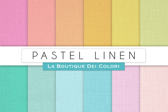 Pastel Linen Digital Papers