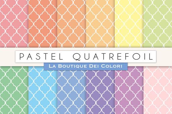 Pastel Quatrefoil Digital Papers