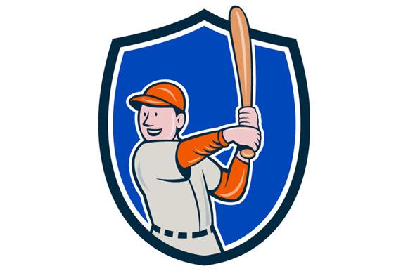 Baseball Player Batting Stance Crest