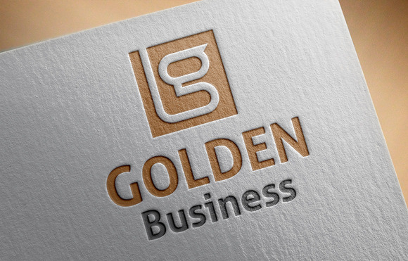 Golden Business Logo