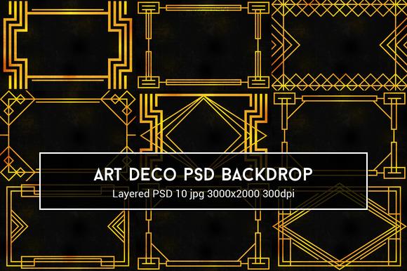 Art Deco PSD Backdrop