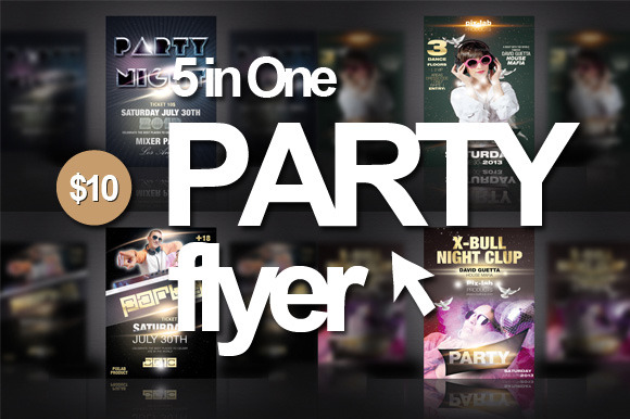 5 In 1 Party Flyer Bundle