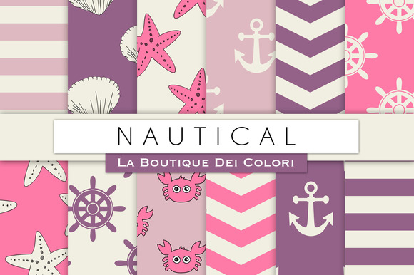 Pink Purole Nautical