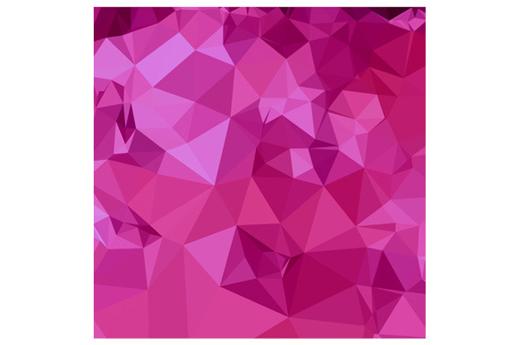 Deep Pink Abstract Low Polygon Backg