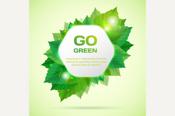 Abstract Go Green Vector Illustratio