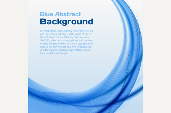 Blue Wave Background With Halftone