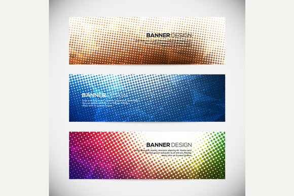 A Set Of Modern Vector Banners With