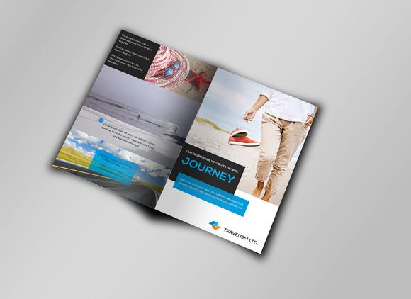 Bi-Fold Business Brochure Template