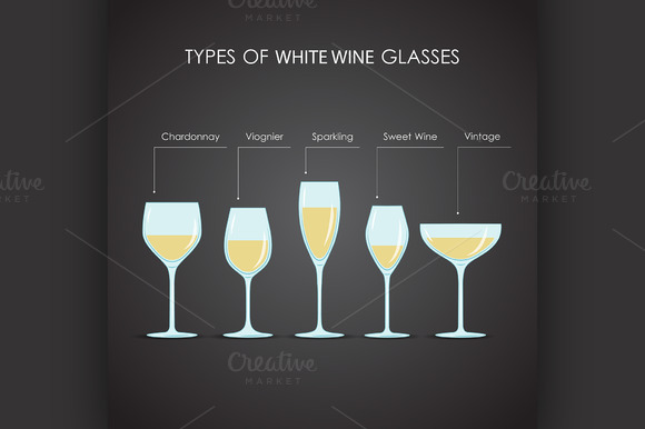 Types Of White Wine Glasses