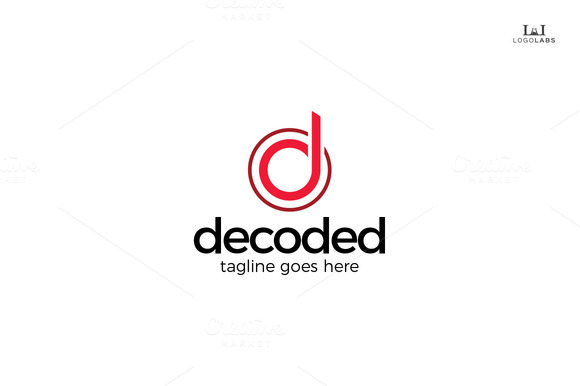 Decoded Letter D Logo