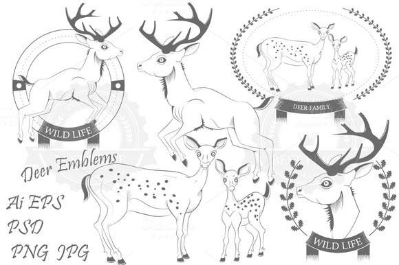 Deer Emblems