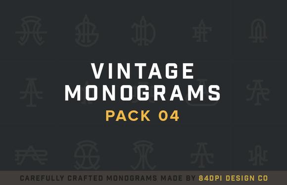 15 Vintage Monograms Pack 04