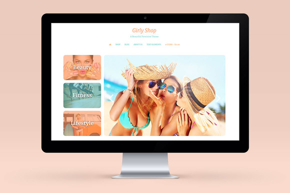 Girly Theme Wordpress Blog E-com