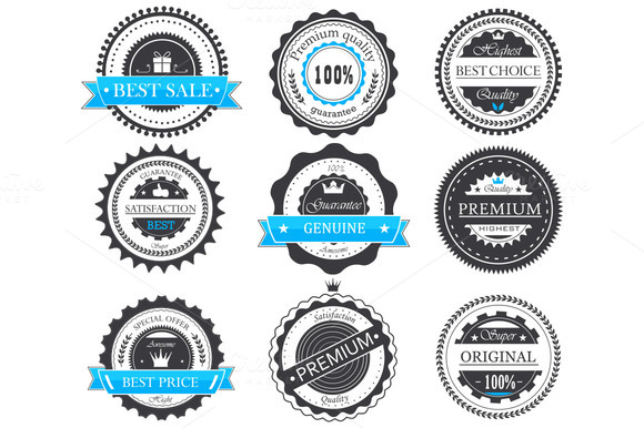Premium Quality Guarantee Badges