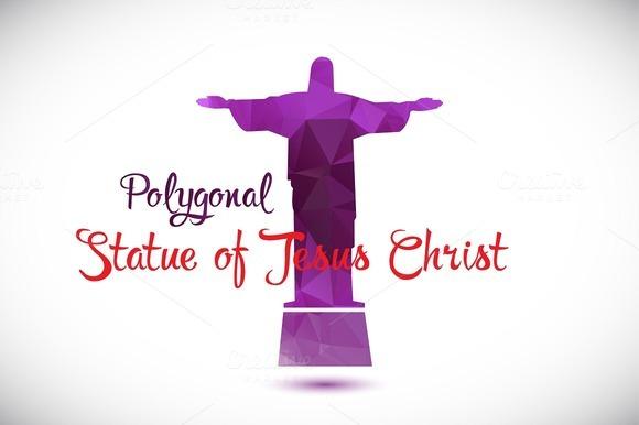 Polygonal Statue Of Jesus Christ