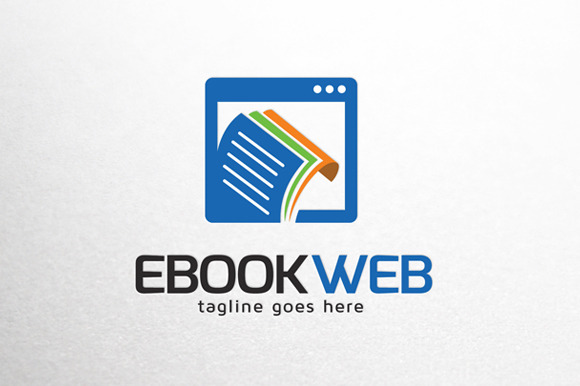 Ebook Website Online Logo Template