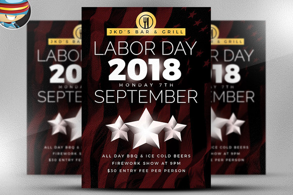 Simple Labor Day Flyer Template