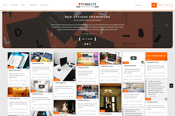 Pinnaite Pinterest WordPress Theme