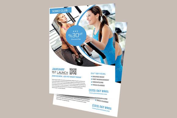 Fitness Health Flyer Temp