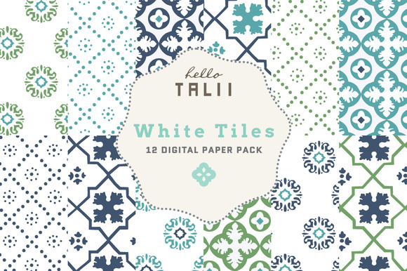 White Tiles Digital Paper