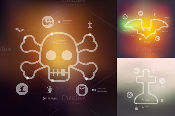 Halloween Timeline Infographics