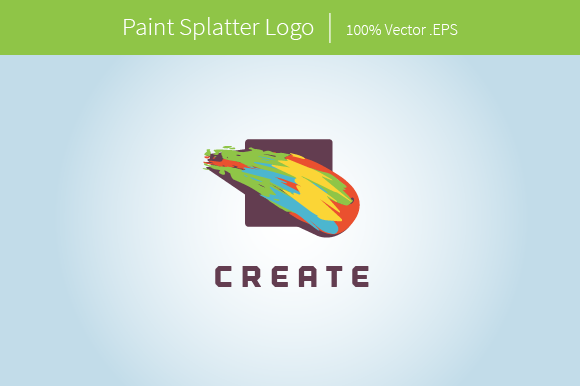 Paint Splatter Logo