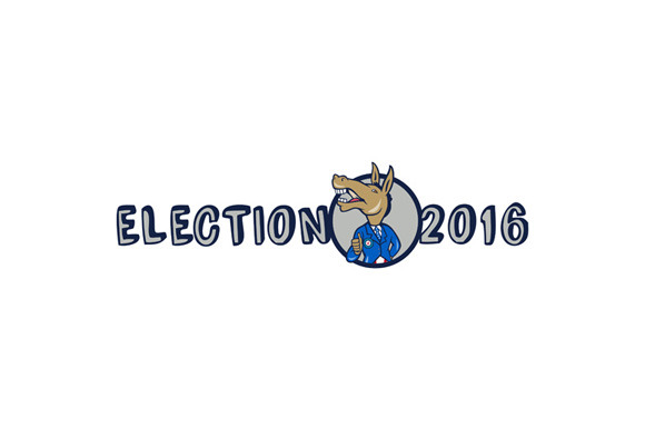 Election 2016 Democrat Donkey Mascot