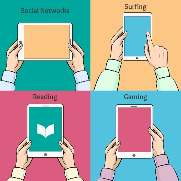 Smartphones Tablets And E-book