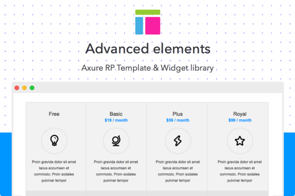 Axure Template Advanced Elements