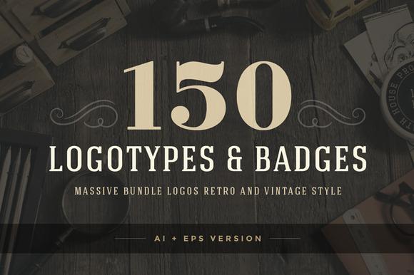 150 Retro Vintage Logotypes