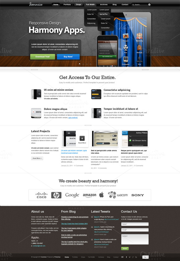 Appnical Web Template