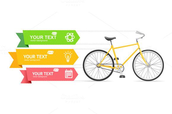Bike Option Banner Vector