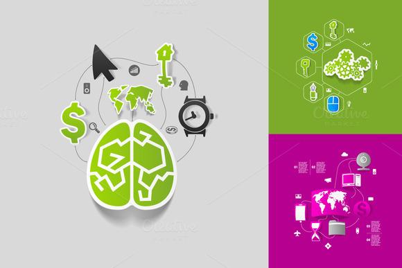 9 Business Sticker Infographics