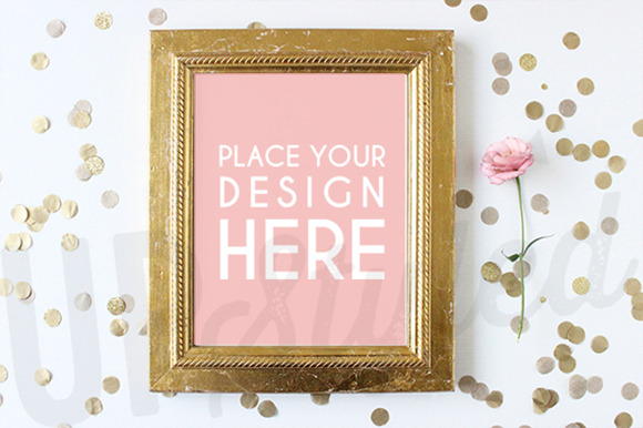 Gold Frame Stock Photo Mock Up A119