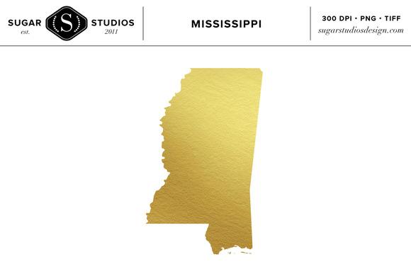 Mississippi Gold Foil State