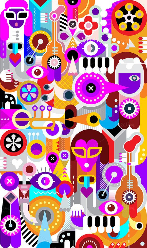 Musicians Graphic Design