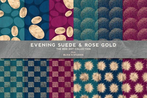 Evening Suede Rose Gold Patterns