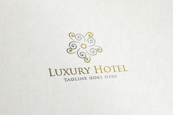 Luxury Hotel Flower Abstract Logo