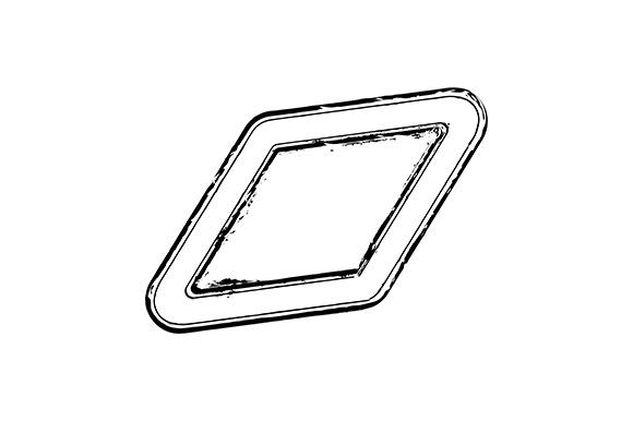 Rhombus Stamp Mockup