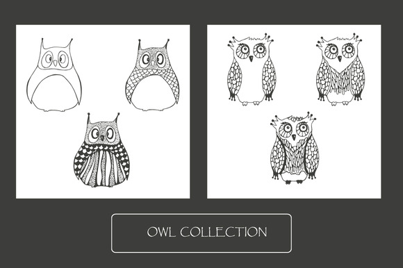 Owls Collection 1 Seamless Pattern