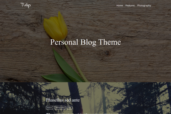 Tulip Personal Blog Theme