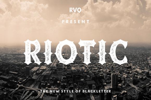 Riotic Typeface Bonus