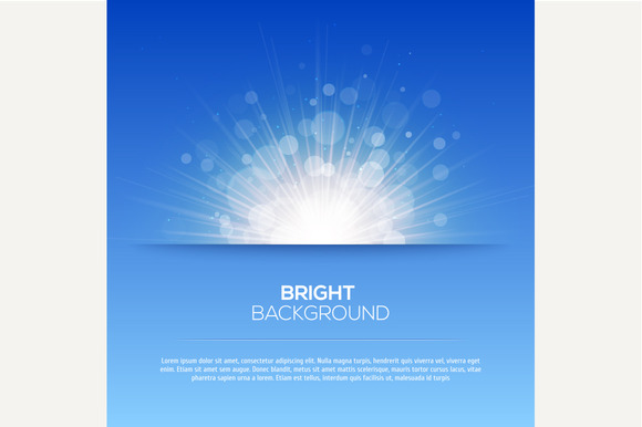 Shiny Sun And Sunbeams Background