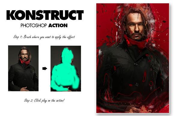 Konstruct Photoshop Action