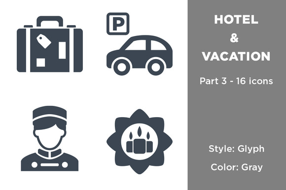 Hotel Vacation Icons Part 3