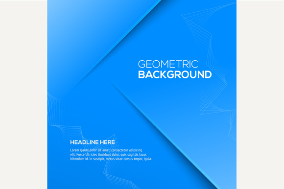 Geometric Blue 3D Background Vector