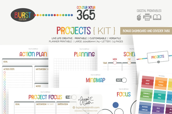 Printable Planner Projects { Kit }